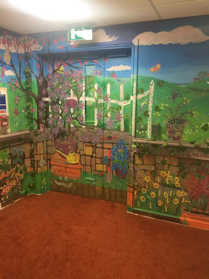 Mural Painted At The Springs Care Home In Malvern The